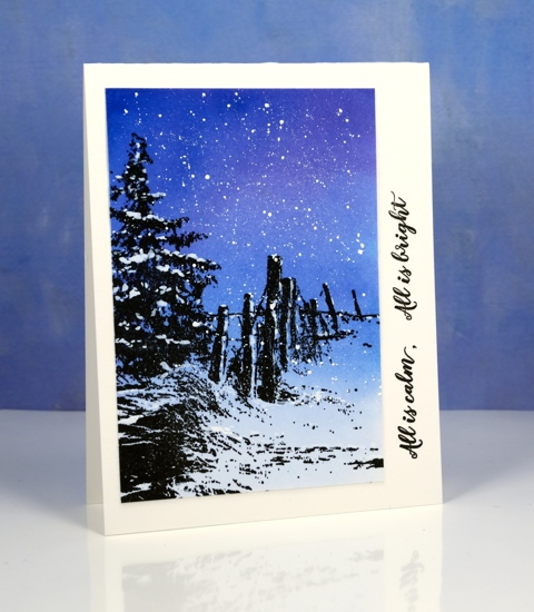 tranquil falling snow Heather Telford