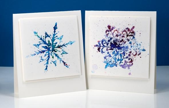 powdered snowflakes Heather Telford