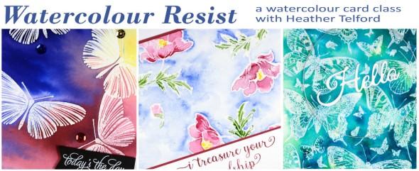 watercolour resist class Heather Telford