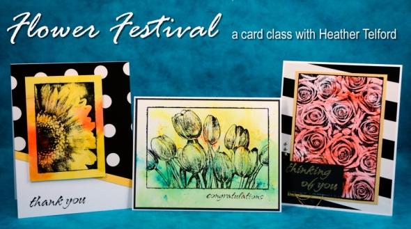 flower festival banner Heather Telford