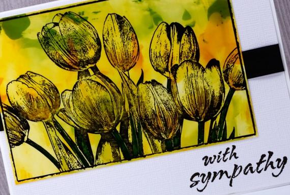 Tulip Sympathy Card Heather Telford