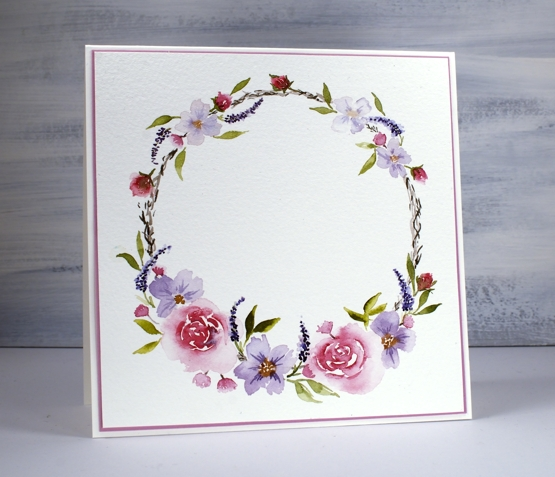Hand Painted Floral Wreath Heather Telford